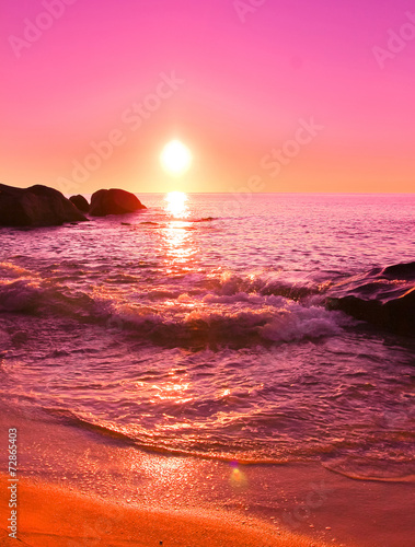 Photo Stands Candy pink Dream Sea Stones