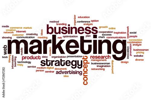 Fotografía  Marketing word cloud