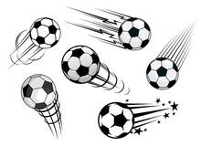Speeding Footballs Or Soccer Balls