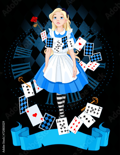 Garden Poster Fairytale World Alice in wonderland