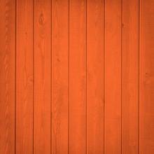 Orange Wood Fence Close Up