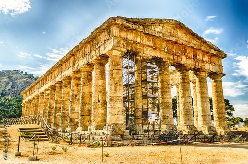 Greek Temple of Segesta Canvas-taulu
