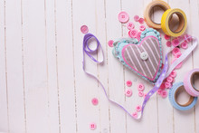 Heart And Scrapbooking Element...
