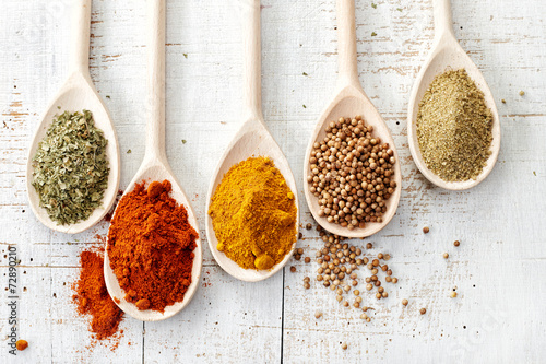 various spices Canvas Print