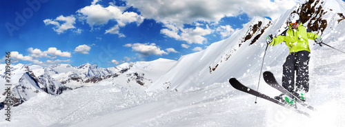 Skier in high mountains #72896246