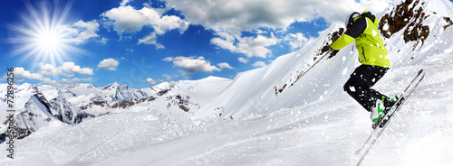 Skier in high mountains #72896256