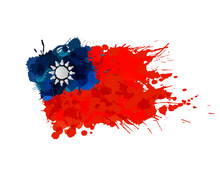 Flag Of  Taiwan (Republic Of C...