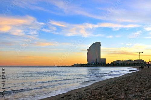 Papiers peints Barcelona Barcelona beach
