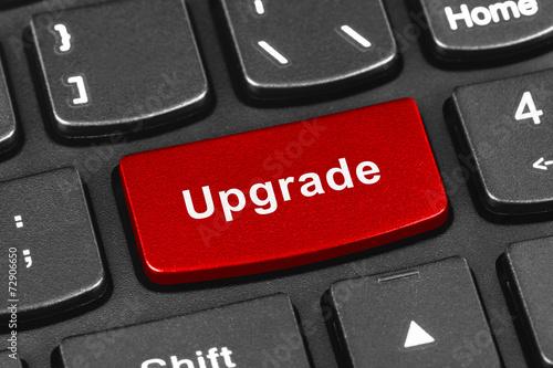 Fotografía  Computer notebook keyboard with Upgrade key