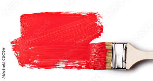 Photo Paintbrush with red paint