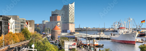 Fotografía  Hamburger Hafenpanorama.