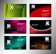 Stylish idea business card template design