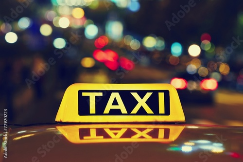 Canvas Print Night taxi
