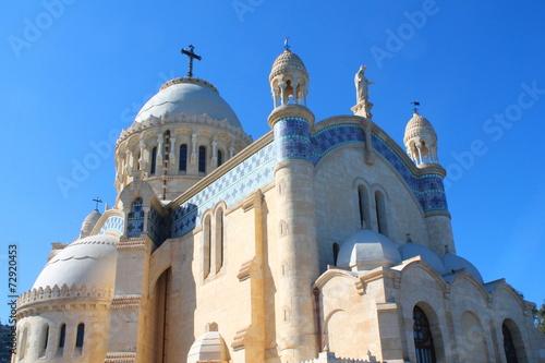 Poster Algérie Basilique Notre Dame d'Afrique, Alger