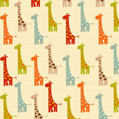 Fototapeta pattern with giraffes