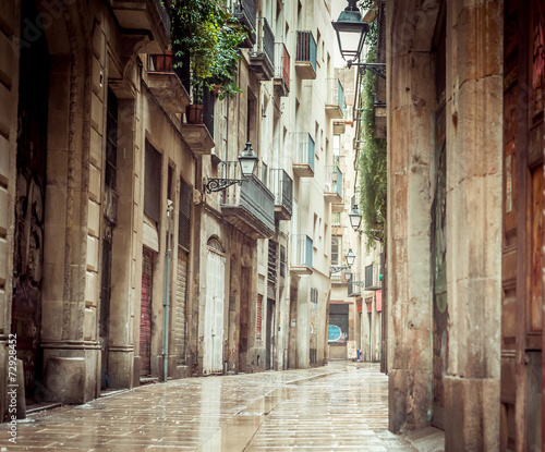 Old streets of Barrio Gotico