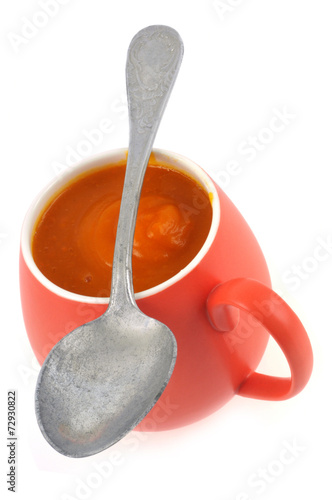 Canvas Prints Tea Tasse de soupe au potimarron