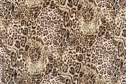 Poster Leopard texture of close up print fabric striped leopard