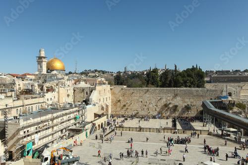 Fotobehang Midden Oosten The Wailing wall - Jerusalem Israel