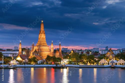 In de dag Bangkok Prang of Wat Arun, Bangkok ,Thailand