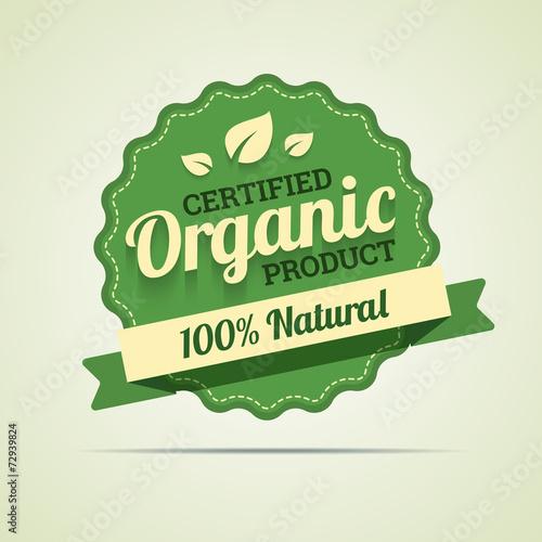 Fotografía  Organic product badge. Vector illustration in EPS10.