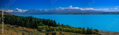 Deurstickers Nieuw Zeeland View of Mt. Cook from Lake Pukaki, New Zealand