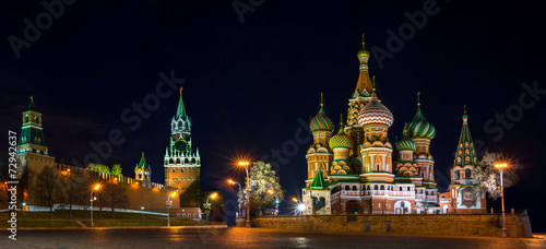 Tuinposter Moskou Red Square at the evening, Moscow, Russia