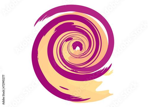 Poster Spiraal spirale colorata