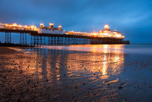 Eastbourne Pier At Dusk Reflec...