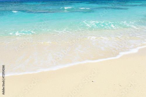 Fotografia  美しい沖縄のビーチと夏空