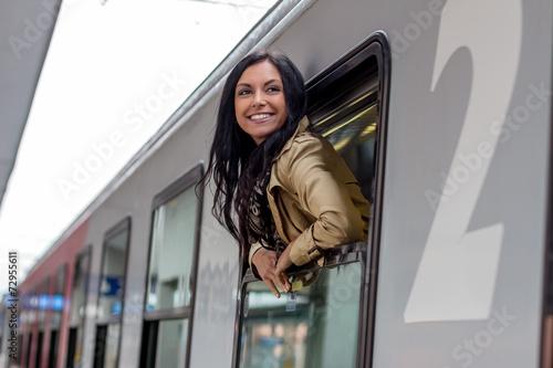 Fotografía  Ankunft mit der Eisenbahn