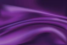 Vector Of Violet Silk Fabric B...