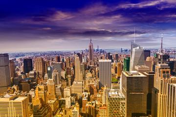 Beautiful view of  New York City skyline