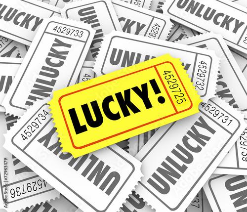 Tickets Lucky Versus Unlucky Words Raffle Contest Winner Odds Ch Canvas-taulu