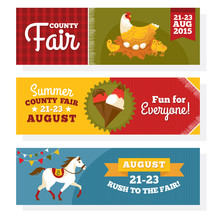 County Fair Vintage Banners
