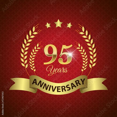 фотография  Celebrating 95 Years Anniversary, Golden Laurel Wreath & Ribbon