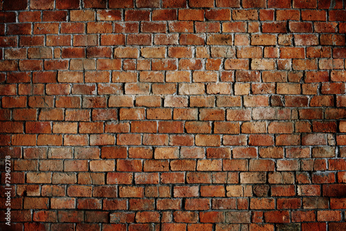 Tuinposter Baksteen muur Classic Beautiful Textured Brick Wall