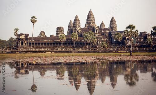 Spoed Fotobehang Bedehuis Angkor Wat Temple