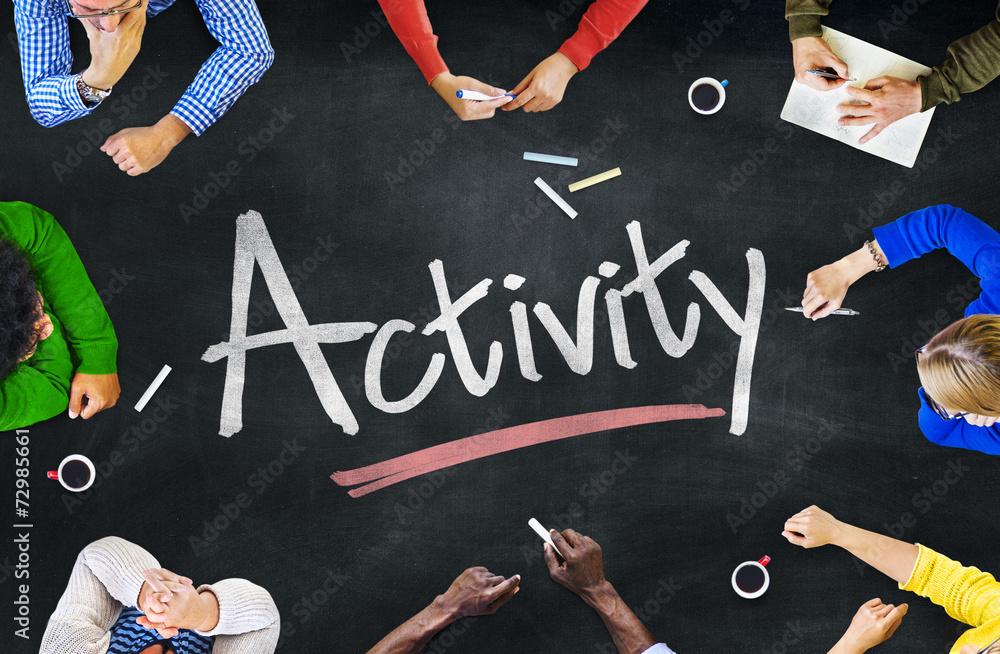 Fototapety, obrazy: Multi-Ethnic Group of People and Activity Concept
