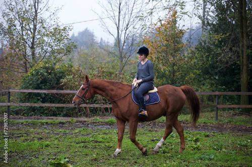 Tuinposter Paardrijden Equitazione che passione 18