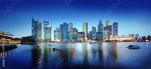 Keuken foto achterwand Verenigde Staten Cityscape Singapore Panoramic Night Concepts