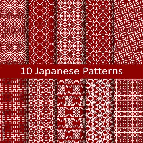 Fotografia  set of ten Japanese patterns