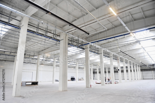 Fotobehang Industrial geb. Empty new storage depot