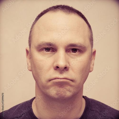 Fotografie, Obraz  Espressioni facciali - F.A.C.S. Action Unit 15+17