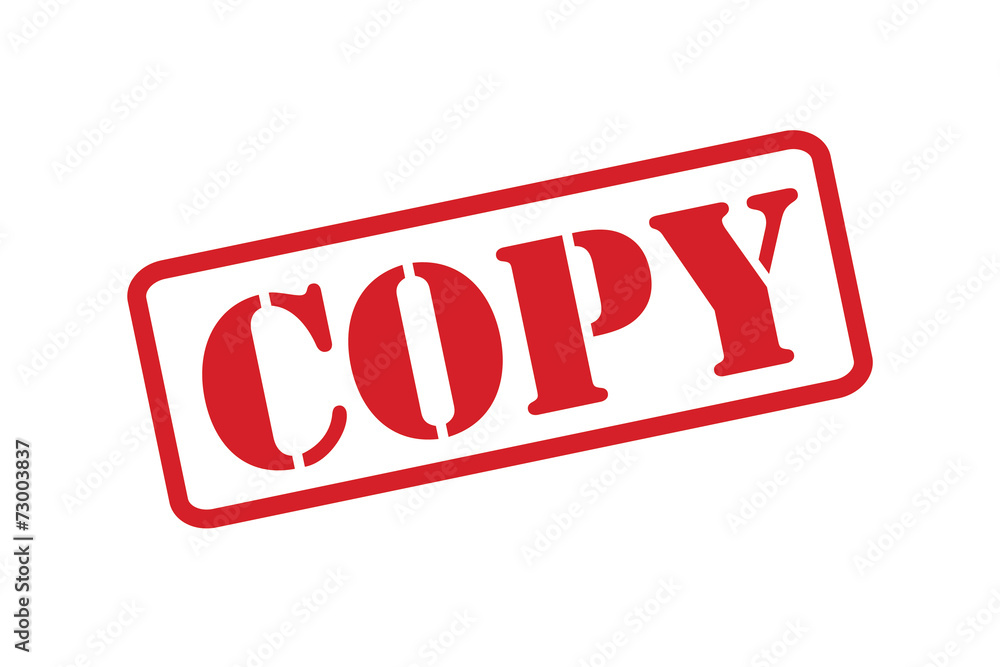 Fototapety, obrazy: 'COPY' red rubber stamp vector over a white background.