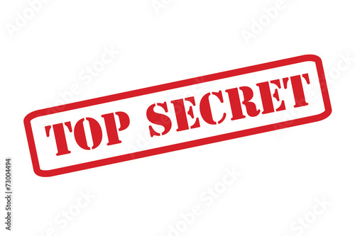 Photo  'TOP SECRET' Red Stamp vector over a white background.