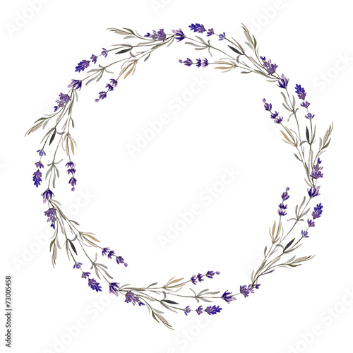lavender wreath Wallpaper Mural