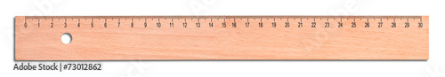 Fotografía  Wood ruler isolated on white