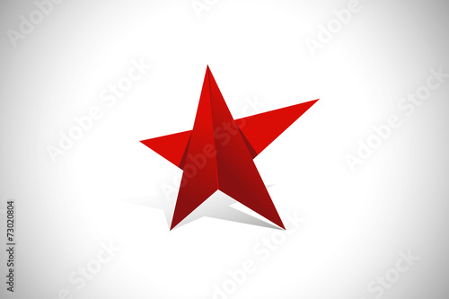 Photo  red star pride geometry vector logo