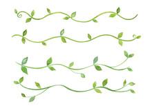 緑の蔓草のライン